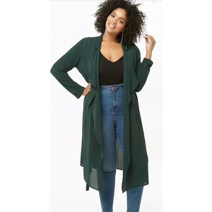 Forever 21+ Teal Trench